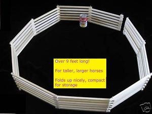 Folding Wood Toy Fence for Larger Breyer Horses for Kids Wooden Farm Fence Cool
