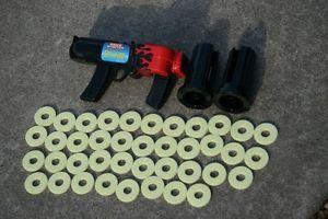 Milton Bradley Spitfire Space Shooter Target Game Nerf Gun Disc Disk Shooter Toy