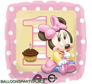 Disney Minnie Mouse Balloon Party Supplies Decorations 1st Birthday First Baby