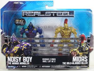 Real Steel Movie Action Figure 2pack Noisy Boy vs Midas Kid's Toy