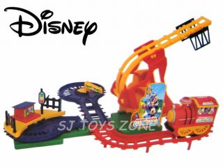 Disney 2007 mickey 39 s christmas express train set lionel le for Disney mickey mouse motorized choo choo train with tracks