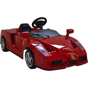 Kids Battery Power Ride on Toy Red Ferrari Sports Car 12V Wheels Race NASCAR