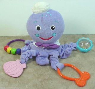 Baby Einstein Kids II Purple Octopus Nursery Toy Teethers Plush Stuffed Animal
