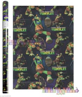 Roll of Teenage Mutant Ninja Turtles Gift Wrap Paper Birthday Party Supplies