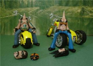 Custom Diecast Trike w Bike 2 Custom OOAK Resin Biker Set 1 18 Scale BG3