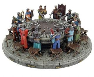 King Arthur and Knights of The Round Table Figurine Resin Statue Amazing Detail