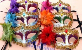 Halloween Masquerade Party Mask Side Flower Venice Mask Cosplay Masks