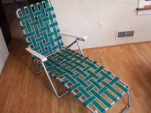 ... Vintage Aluminum Folding Chaise Lounge Lawn Chair ...