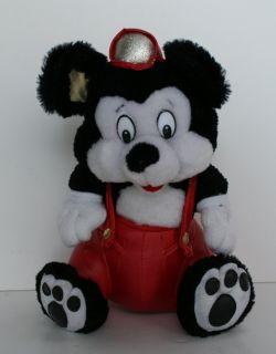 Classic Toy Co Vintage Fireman Mouse Plush Stuffed Animal