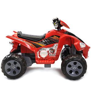 Minimotos 12V Kids Quad ATV 4 Wheeler Ride on Power 2 Motors Traction Wheels Red