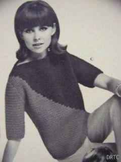 Vintage Go Go 60s Dresses Crochet Knit Patterns Sweaters Coats Lacey Dress Suits