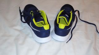 New Boys Nike Kids Fusion St 2 PS Running Shoes Sneakers 11C Blue Wht Lime