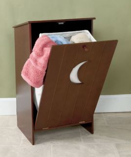 New Outhouse Bathroom Storage Hamper or Toilet Paper Holder Cabinet White Walnut