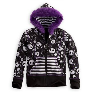 Disney Store Jack Skellington Fleece Hoodie Girls s Nightmere Before Christmas