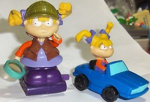 Burger King BK Kids Toy Rugrats Anjelica Angelica Lot 2 PVC Figure Cake Toppers
