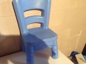 Hard Plastic Little Tikes Blue Victorian Chair for Tender Heart Table