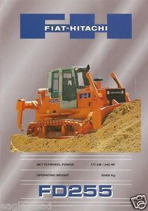 Equipment Brochure Fiat Hitachi FD255 Crawler Bull Dozer 1999 EB452