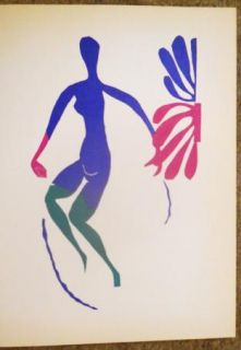 Blue Nude with Green Original Lithograph Henri Matisse 1952 $775 Gallery Price