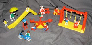 Playmobil 3416 Slide Merry Go Round Slide Bench Swing Children Kids Figures More