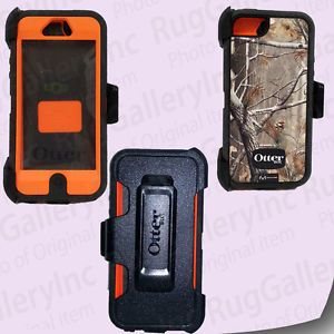 Otterbox Defender Series Hybrid Case Holster Clip for iPhone 5 5S Orange Camo