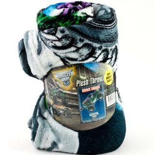 """Monster Jam Grave Digger 46"""" x 60"""" Fleece Plush Throw Blanket Kids Boys Winter"""