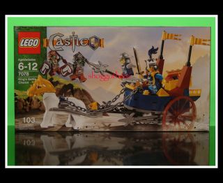 Lego Castle Minifig Knight Horse Troll 7078 Kings Battle Chariot New SEALED Set