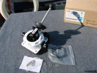 Marine Boat 16 GPM Hand Operated Deck Bilge Pump 1 5 inch Hose New
