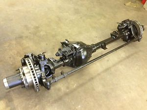 GM Chevy K30 Dana 60 Front Axle with New SRW Hubs and Rotors Single Wheel Dodge