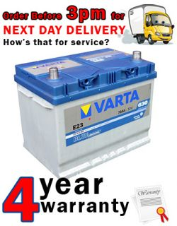 Varta E23 068 Nissan Toyota 4x4 Car Battery