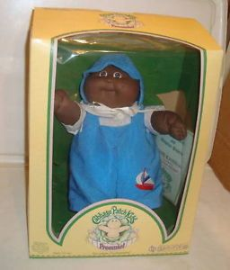 Cabbage Patch Kids Preemie Black Boy Doll with Brown Eyes and Box