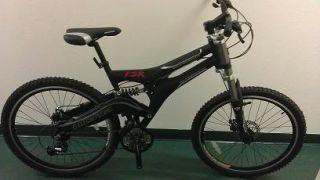 Black Micargi Mountain Bike Full Dual Suspension Shimano 24 Speeds Disc Brakes