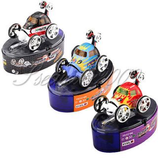 Mini Micro RC Radio Remote Control Racing Twister Stunt Flip Car Toy Kids ZX