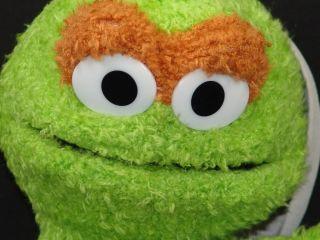 New Big Sesame Street Oscar The Grouch Trashcan Plush Stuffed Animal Toy