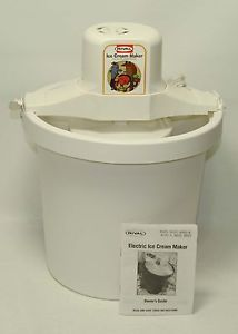 Rival 8401 Electric Ice Cream Maker 4 Quart Freezer White Plastic Tub Bucket USA