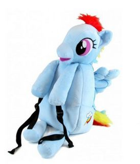TV Show Friendship Is Magic Brony MLP My Little Pony Rainbow Dash Plush Backpack