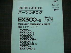 Hitachi EX300 EX330 EX350 Excavator Parts Book Manual