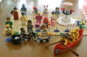 16 Lego Female Minifig Lot Best Friends Bunny Women Coffeeshop Girl Skateboard