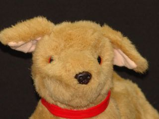 Red Collar Golden Retriever Puppy Dog Digity Plush Stuffed Animal Yellow Lab Toy