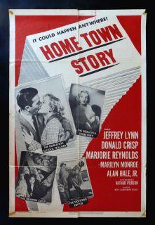 Home Town Story CineMasterpieces 1sh Original Movie Poster Marilyn Monroe 1951