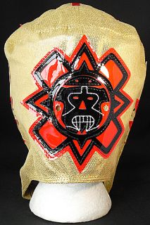Rey Mysterio WWE Gold Red Kid Sized Replica Wrestling Mask