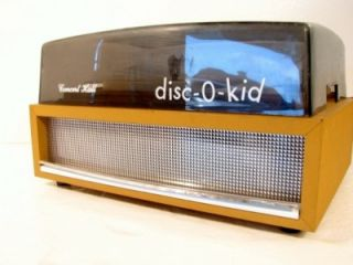 Vtg Concert Hall Disc O Kid Record Player Turntable Vtg Mid Century Turntable