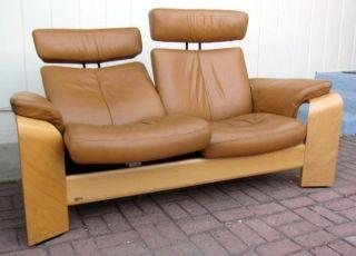 Ekornes Stressless Pegasus Sofa Loveseat Recliner Chair Tan Leather Large