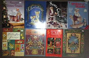 Lot of 8 Tole Painting Books Christmas and Instructional