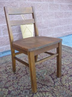 Antique Mission Style Solid Oak Desk Chair Circa 1920's Nice Old Oak Desk Chair