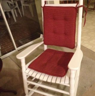 Cracker Barrel Rocking Chair and Cushion Only Used for One Month Local Pick Up