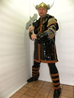 XL Viking Warrior Knight Thor Mens Medieval Costume Plus New Renaissance Quiver