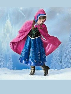 New Disney Store Frozen Anna Limited Edition Out of 1500 Deluxe Costume Size 4