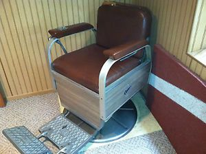Vintage Antique Koken Comet Barber Chair