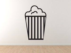 Cinema Home Theater Part 7 Popcorn Box Cartoon Style Vinyl Wall Decal