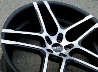 Ruff Racing 954 22 x 9 0 10 M Black Rims Wheels Infiniti M45 Staggered 5H 40
